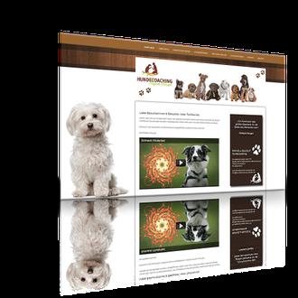 Auftraggeber: Hundetrainerin. Unsere Leistungen: Logoentwurf, Visitenkarten, Webdesign, Imagefilm, Layout, Texte, Bilder, Rechtsprüfung, Webbetreuung