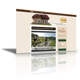 Auftraggeber: Vermieter. Unsere Leistungen: Webdesign, Imagefilm, Layout, Texte, Bilder, Rechtsprüfung, AGB, Visitenkarten, Briefpapier, Flyer, Logodesign