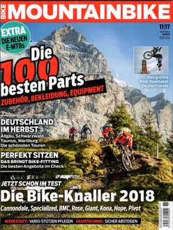 Cover MOUNTAINBIKE Magazin November 2017
