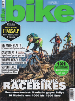 Cover BIKE Magazin Februar 2018