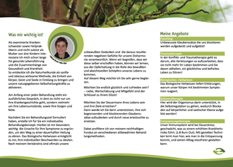 Faltblatt/Flyer/Folder/Infoblatt für eine Naturheilpraxis in Moers