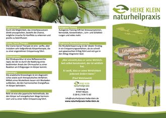 Faltblatt/Flyer/Folder/Infoblatt für eine Naturheilpraxis