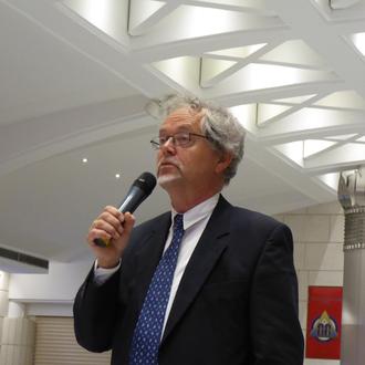 Bruno Pinchard, professeur de philosophie, Vénérable Maître de la Loge Nationale de Recherche Villard de Honnecourt