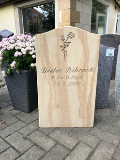 Grabmal Grabstein Sächsischer / Postaer Sandstein