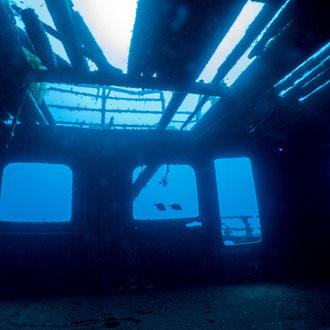Die MV Karwela wurde 2006 an der Südküste versenkt und zum künstlichen Riff. © Robert Hansen, Gozo, Oktober 2020