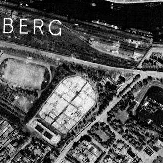 1952 Luftbild aus der Nachkriegszeit mit parzellierten Gartenflächen; Quelle: Kartendienst Metropole Ruhr