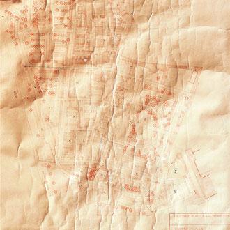 Friedhof Übersichtsplan Bepflanzung, M = 1: 500., Datum: Unbekannt