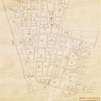 Friedhof Übersichtsplan Bepflanzung, M = 1:500, 27.06.1973