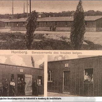 Barackenlager der Belgischen Besatzungsmacht, Ansichtskarte