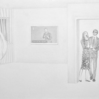 """Breaking News"" Pencil on paper. 70x100 cm *2017"