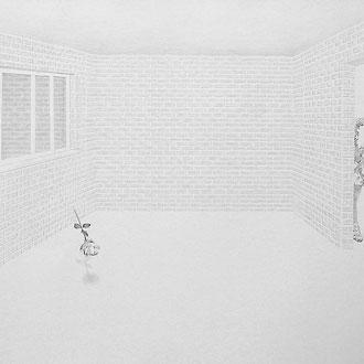 """Strange Night"" Pencil on paper. 70x100 cm *2017"