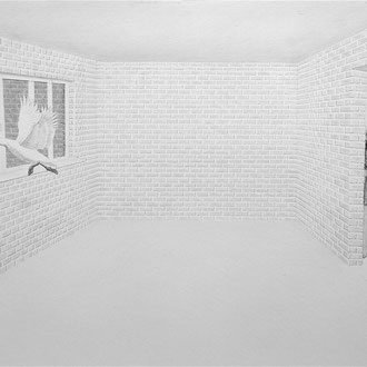 "''White Night"" Pencil on paper. 70x100 cm *2015"