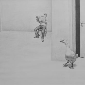 '' Space'' Pencil on paper. 70x100 cm. *2010