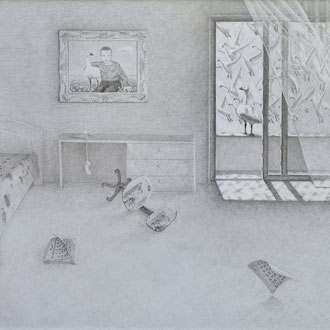 ''Empty Reality'' Pencil on paper. 70x100 cm *2011