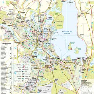 Karte 3: Stadtgebiet Schwerin