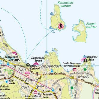Karte 3: Schwerin-Zippendorf