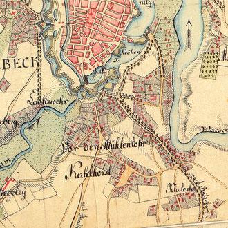 Varendorff 1796: Karte von Holstein - vor der Restaurierung