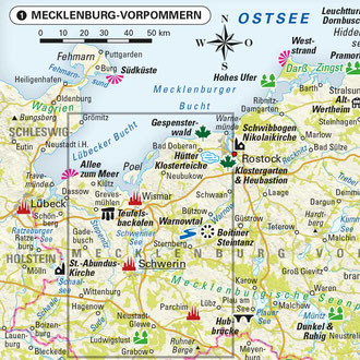 Karte 1: Schwerin in Mecklenburg-Vorpommern