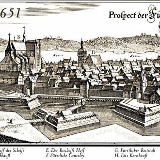Karte 6: Schwerin vor 1651 (Caspar Merian)