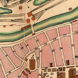 Seutter 1750: Plan von Lübeck - vor der Restaurierung