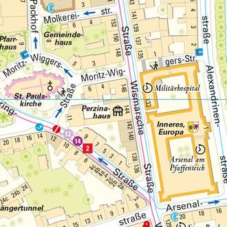 Karte 5: Arsenal & Paulskirche
