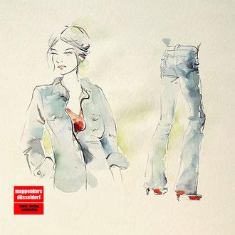 Modezeichnen, Modedesign, Mappenkurs Düsseldorf NRW
