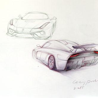 Transportation Design, Automobil Zeichnen, Mappenkurs Transportation Design, Transportation Design Studium