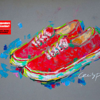 Pastellmalkurs, Malen mit Pastellfarben, Pastellmalerei, Stillleben mit Pastell malen lernen, Mappenkurs Düsseldorf
