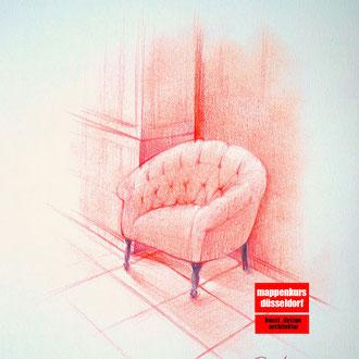 Pastellmalkurs, Malen mit Pastellfarben, Pastellzeichnung, Interior mit Pastell malen lernen, Mappenkurs Düsseldorf