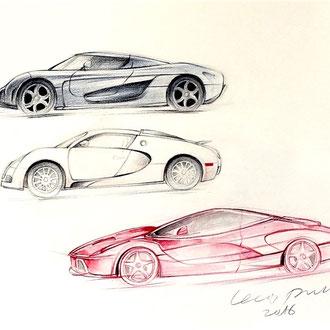 Transportation Design, Automobil Zeichnen, Mappenkurs Transportation Design, Transportation Design studieren