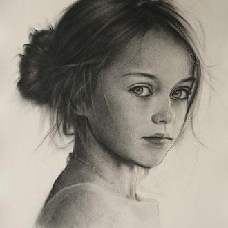 Portraitzeichnen, Portraitkurs, Kinderportrait mit Zeichenkohlen zeichnen lernen, Zeichenkurs Portrait Düsseldorf