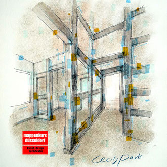 Mappenkurs Innenarchitektur, Innenarchitekturzeichnen, Innenarchitektur Mappe, Innenarchitekturstudium HSD Düsseldorf