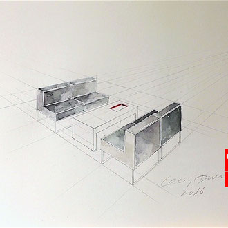 Möbelzeichnen, Möbeldesign, Mappenkurs Düsseldorf NRW