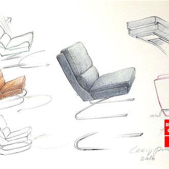 Mappenkurs Möbel Design, Möbeldesign studieren, Möbel zeichnen lernen, Studium Möbeldesign NRW