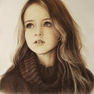 Portraitzeichnen, Portraitkurs, Kinderportrait mit Sepia zeichnen lernen, Zeichenkurs Portrait Düsseldorf