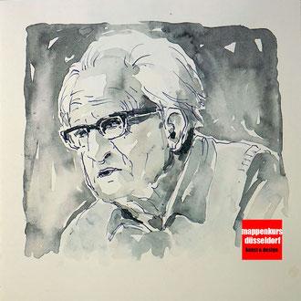 Portraitzeichnen, Portaitkurs, Portrait mit Aquarell malen lernen, Zeichenkurs Portrait Düsseldorf