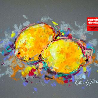 Pastellkurs, Malen mit Pastellfarben, Pastellmalerei, Früchte mit Pastell malen lernen, Mappenkurs Düsseldorf