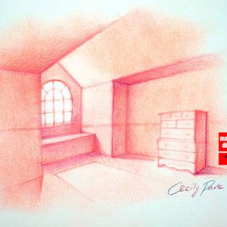 Innenarchitekturzeichnen, Innenarchitektur zeichnen, Inteiror Design, Mappenkurs Düsseldorf