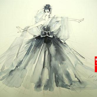 Modedesign Modeillustration, Mode zeichnen, Mappenkurs Modedesign, Modeillustration Modedesign Studium