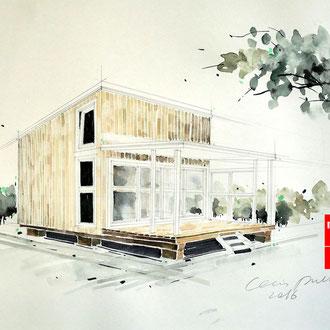 Architekturzeichnen, Architektur zeichnen lernen, Mappenkurs Düsseldorf