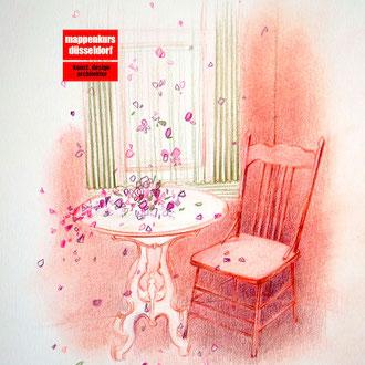 Pastellkurs, Malen mit Pastellfarben, Pastellmalerei, Interior mit Pastell malen lernen, Mappenkurs Düsseldorf