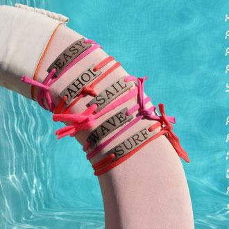 BYRH Bracelets - Pool - Wave - Surf - Love - Hope - Ahoi - Sylt