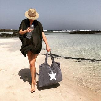 Strandtasche von BYRH mit Stern - Strand Lagune - Bohemian Style