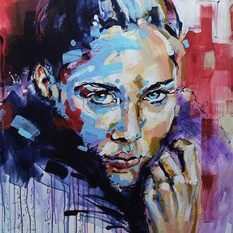 """mysterious beauty"" 80 x 120 cm"