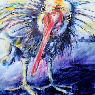 """""""vogelwild"""" 120 x 100 cm"""