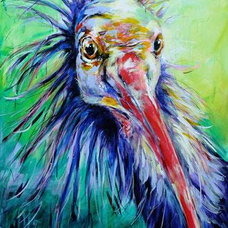 """""""Schräger Vogel"""" 70 x 100 cm"""