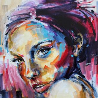 """Mysterious girl"" 130 x 160 cm"