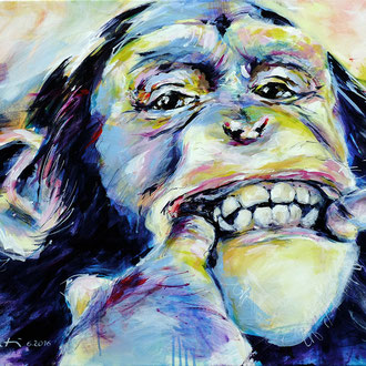 """Keep smiling"" 80 x 60 cm"