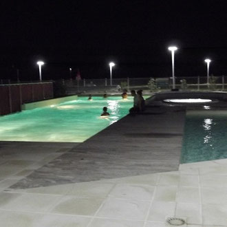 lot et bastides swimming pool evening