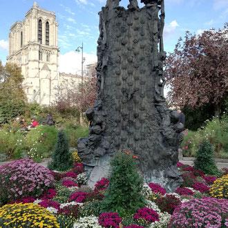 Notre-Dame et la fontaine Saint-Julien le Pauvre